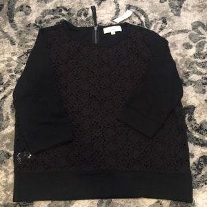 Sweaters - LOFT Black Crochet Sweater